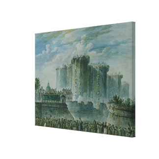 The Destruction of the Bastille, 14th July 1789 Canvas Print