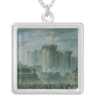 The Destruction of the Bastille, 14th July 1789 Silver Plated Necklace