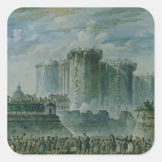 The Destruction of the Bastille, 14th July 1789 Square Sticker