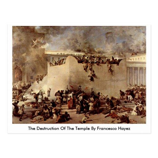 The Destruction Of The Temple By Francesco Hayez Postcard