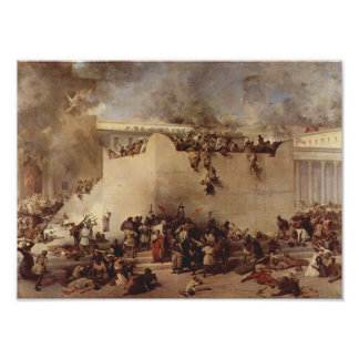 The Destruction Of The Temple Of Jerusalem Poster