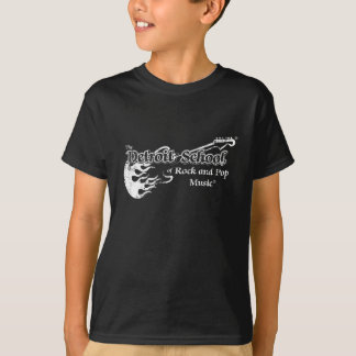 The Detroit School of Rock and Pop Black Grunge T-Shirt