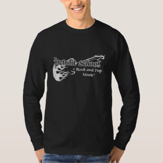 The Detroit School of Rock and Pop Black Long T-Shirt
