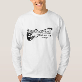 The Detroit School of Rock and Pop White Long T-Shirt