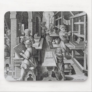 The Development of Printing, plate 5 from 'Nova Re Mouse Pad