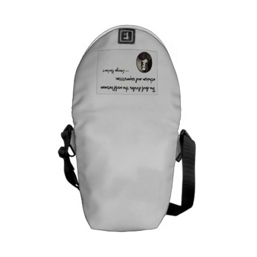 The devil divides the world.... messenger bag