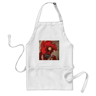 The Devil Eats Cheese Puffs Adult Apron