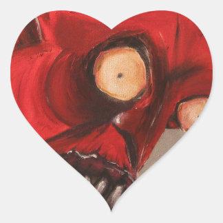 The Devil Eats Cheese Puffs Heart Sticker