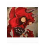 The Devil Eats Cheese Puffs Postcard
