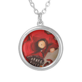The Devil Eats Cheese Puffs Silver Plated Necklace