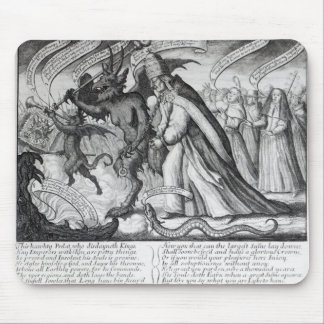 The Devil leading the Pope in Chains, 1680 Mouse Pad
