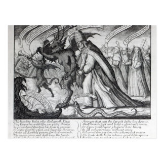 The Devil leading the Pope in Chains, 1680 Postcard