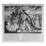 The Devil leading the Pope in Chains, 1680 Poster