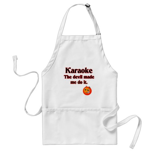 The Devil Made Me Do It Adult Apron