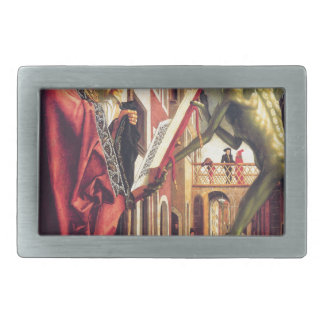 The Devil Offers the Book of Vices to Saint Belt Buckle