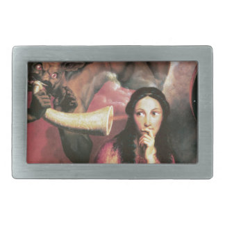 The Devil Tempting a Young Woman Belt Buckle