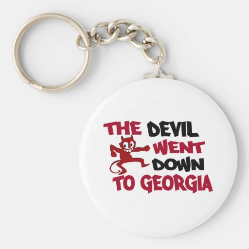 The Devil Went Down to Georgia Keychains