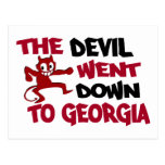 The Devil Went Down to Georgia Postcards