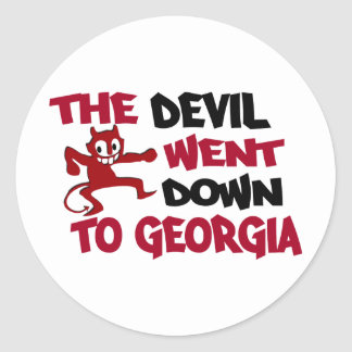 The Devil Went Down to Georgia Classic Round Sticker