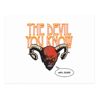 The Devil You Know Postcard