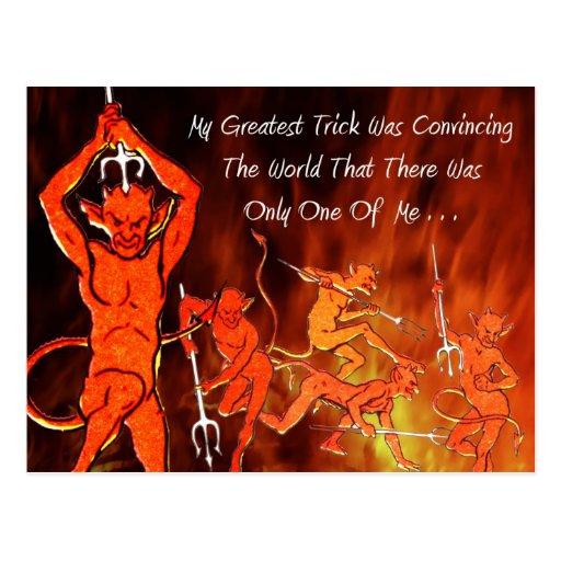 The Devil's Message Postcard