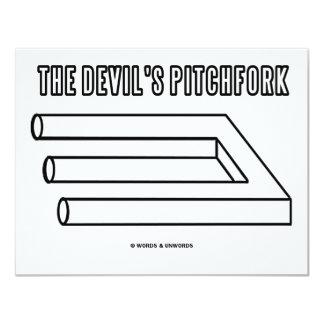 The Devil's Pitchfork (Optical Illusion) Card