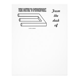 The Devil's Pitchfork (Optical Illusion) Personalized Letterhead