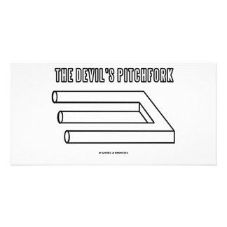 The Devil's Pitchfork (Optical Illusion) Photo Card