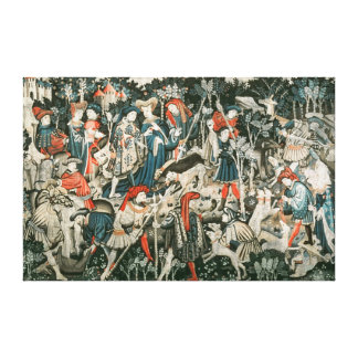 The Devonshire Hunting Tapestries Canvas Print
