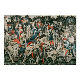 The Devonshire Hunting Tapestries Poster