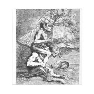 The Devout Profession by Francisco Goya Notepad