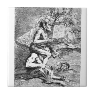 The Devout Profession by Francisco Goya Small Square Tile