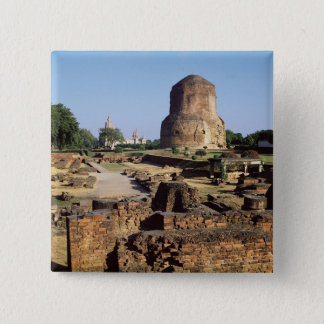 The Dhamekh stupa, c.500 AD Button