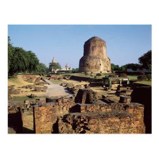 The Dhamekh stupa, c.500 AD Postcard