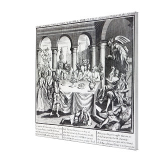 The diabolical maskquerade stretched canvas prints