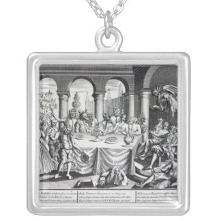 The diabolical maskquerade silver plated necklace