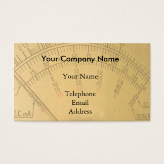 The Dial of a Vintage Amp Meter Business Card