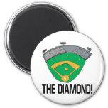 The Diamond 2 Inch Round Magnet