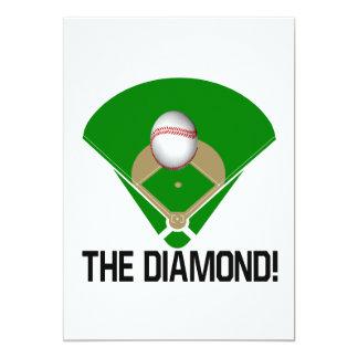 The Diamond 5x7 Paper Invitation Card