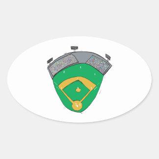 The Diamond Oval Sticker