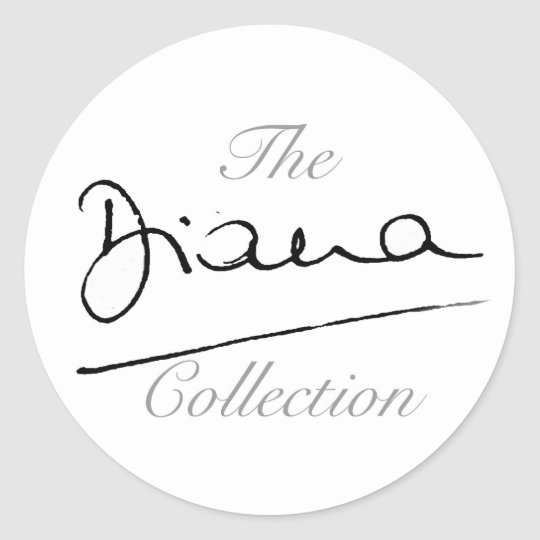 The Diana Collection Classic Round Sticker