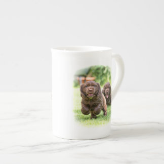 "The DIBBLE Bone china mug ""Look out he's coming""."