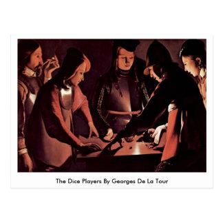 The Dice Players By Georges De La Tour Postcard