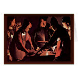 The Dice Players By La Tour Georges De Greeting Cards