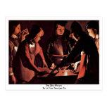 The Dice Players By La Tour Georges De Post Cards