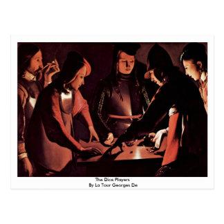 The Dice Players By La Tour Georges De Postcard