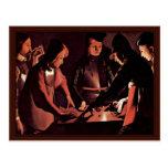 The Dice Players By La Tour Georges De Postcards
