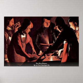 The Dice Players By La Tour Georges De Poster