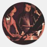 The Dice Players By La Tour Georges De Stickers