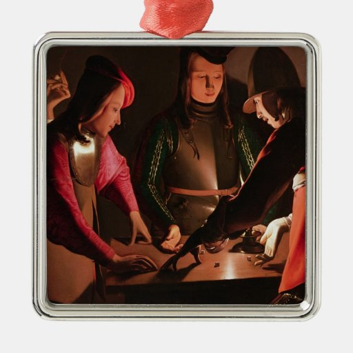 The Dice Players Metal Ornament